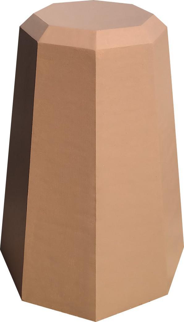 Пирамида усеченная из цветного бетона (оранжевая) d490мм, высота 690мм