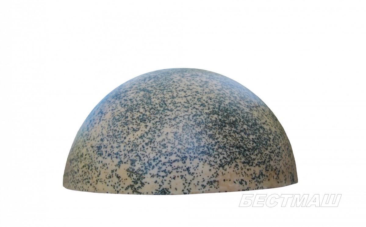 Полусфера бетонная d500х240 мм серый гранит