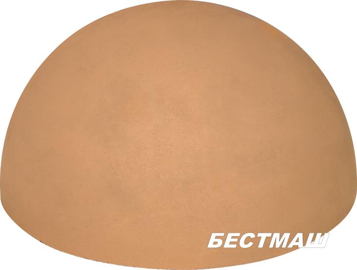 Полусфера из цветного бетона d500х240 мм (оранжевая)
