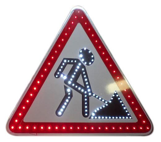 Знак светодиодный (1.25), 12В, А = 900мм (без канта / с кантом)