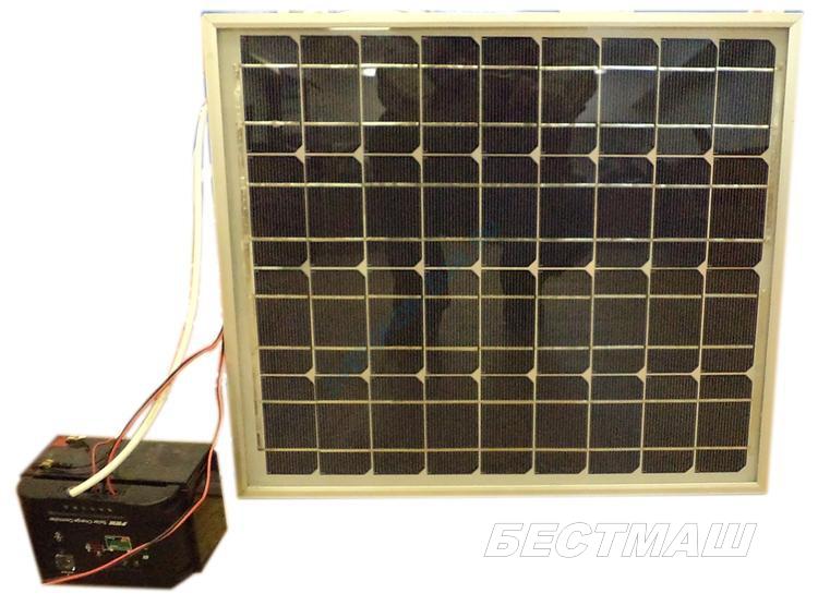 Комплект для автономного питания Светодиодных знаков (контроллер, модуль солнечный)
