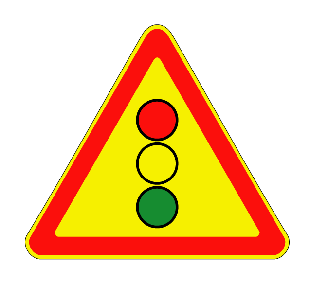 """Маска дорожного знака """"Светофорное регулирование 1.8 (временный)"""