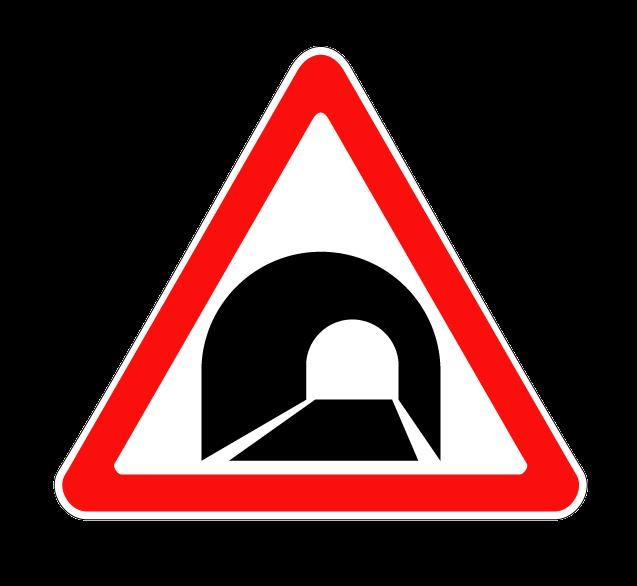 """Маска дорожного знака """"Тоннель"""" 1.31"""