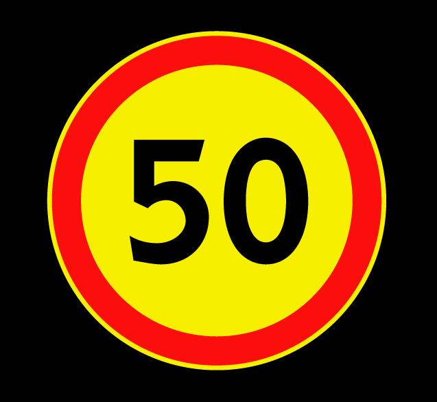 """Маска дорожного знака """"Ограничение максимальной скорости"""" 3.24 (временный)"""