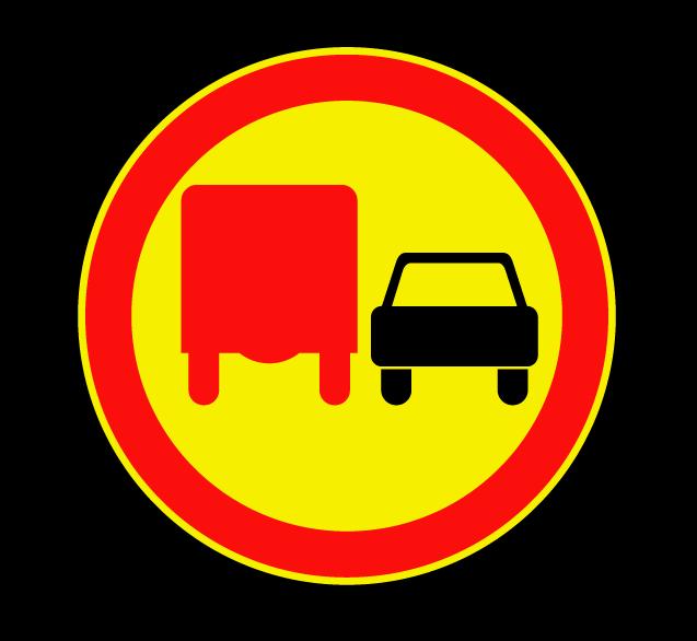 Обгон грузовым автомобилям запрещен 3.22 (временный)