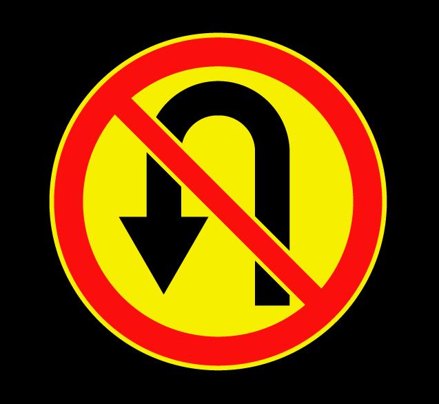 Разворот запрещен 3.19 (временный)