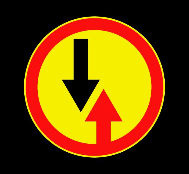 Маска дорожного знака 2.6