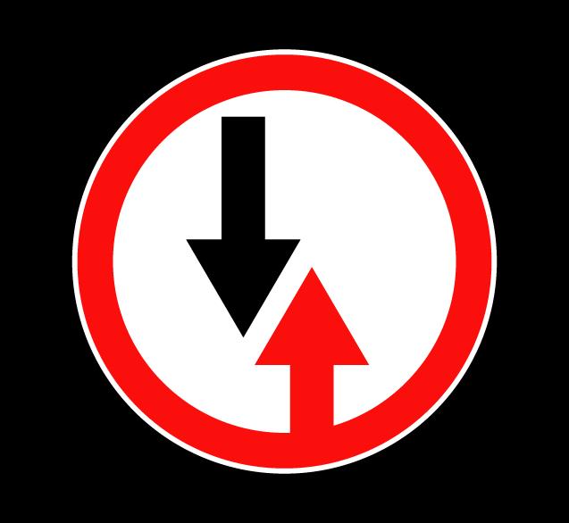 """Маска дорожного знака """"Преимущество встречного движения"""" 2.6"""