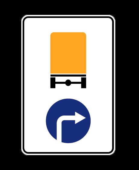 Маска дорожного знака 4.8.2