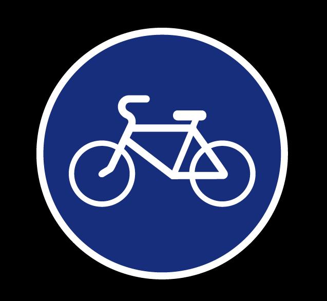 """Маска дорожного знака """"Велосипедная дорожка"""" 4.4.1"""