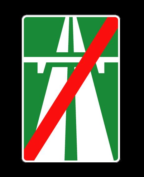 "Маска дорожного знака ""Конец автомагистрали"" 5.2"