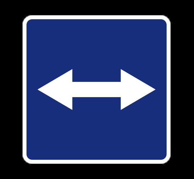 Выезд на дорогу с реверсивным движением 5.10