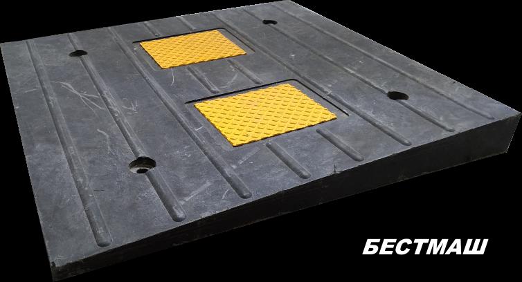 Заезд ПИН (чёрный), 500*500*50 мм, вес 14 кг