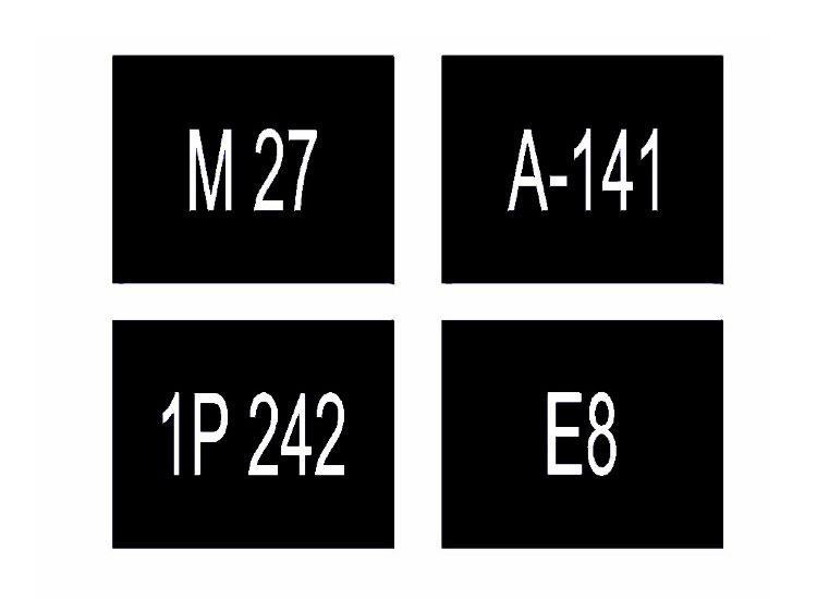 Обозначение номера (1.22) холодным пластиком