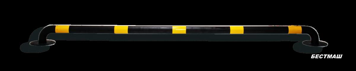 Колесоотбойник металлический, D76мм, толщина 3мм на анкерном креплении/бетонируемый (покраска эпоксидный грунт-эмаль)