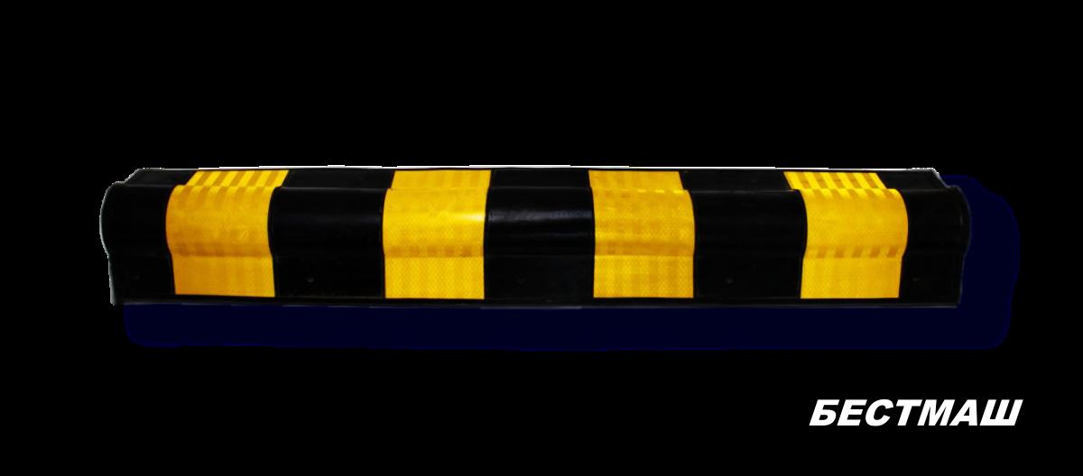 Демпфер угловой резиновый круглый 800x120x20