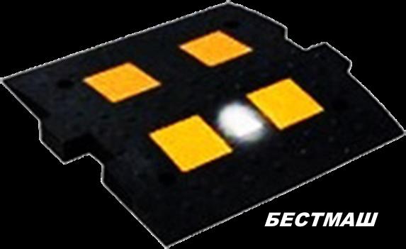 Светодиодный серединный элемент полимерный, 500*500 мм