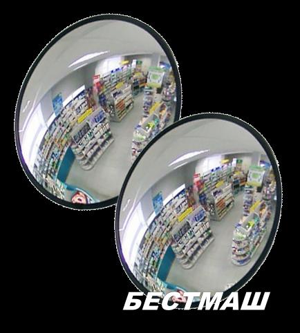 Сферическое зеркало для помещений D600мм