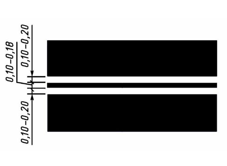 Сплошная линия (1.3) холодным пластиком