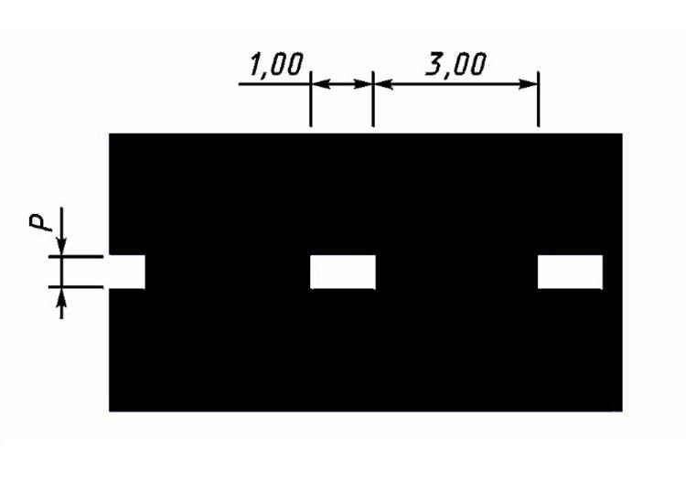 Прерывистая линия (1.8) холодным пластиком