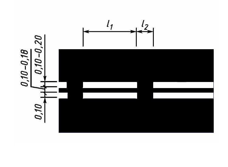Двойная прерывистая линия (1.8) холодным пластиком