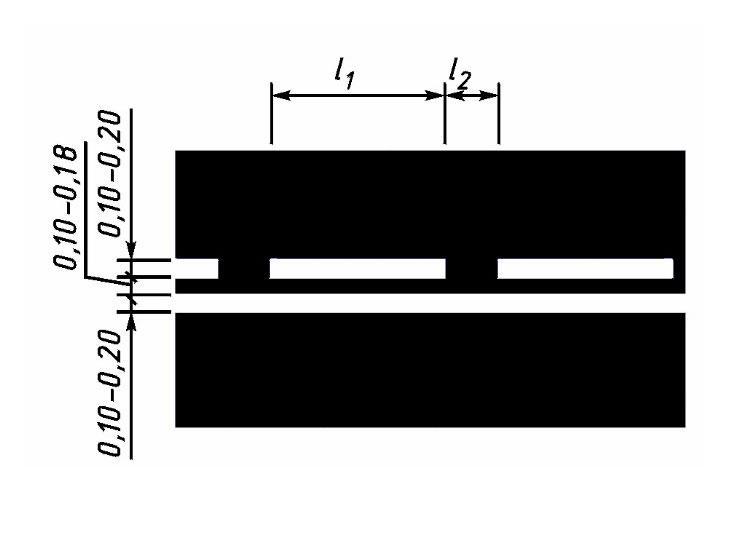 Двойные линии (1.11) холодным пластиком