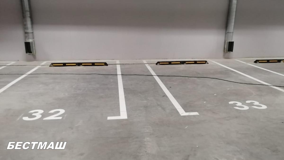 Прерывистая линия (1.7) на парковках