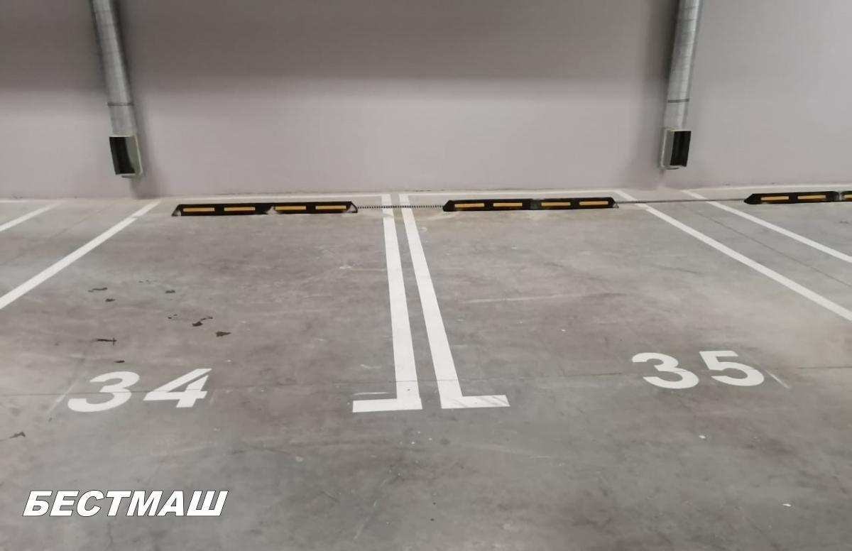 Прерывистая линия (1.6) на парковках